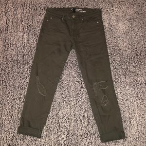 Gap Cropped Distressed Jeans
